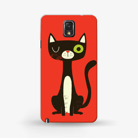 Green Eye Cat Samsung Galaxy Note 3 CASE - Edmotic