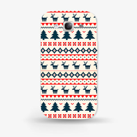 Christmas Snow Aztec Samsung Galaxy S3 CASE - Edmotic