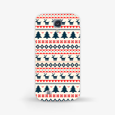 Christmas Snow Aztec Samsung Galaxy S4 Mini CASE - Edmotic