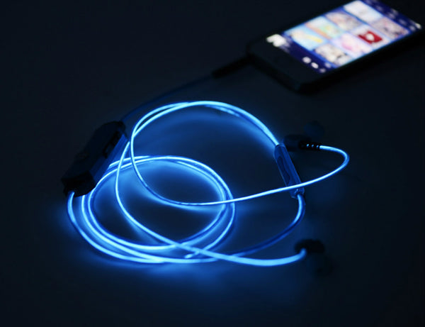 LED GLOW EARPHONES