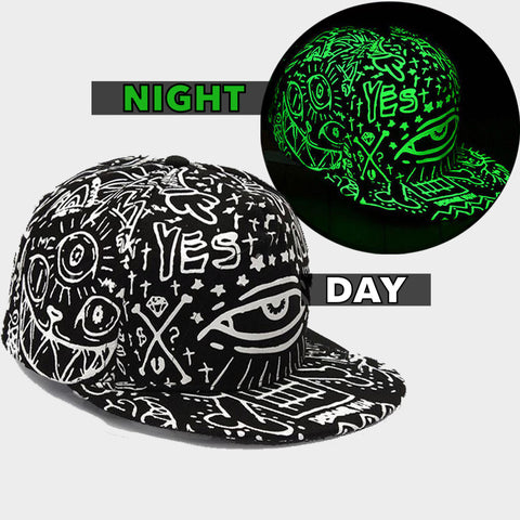 GRAFFITI GLOW IN DARK SNAPBACK - Edmotic - 1