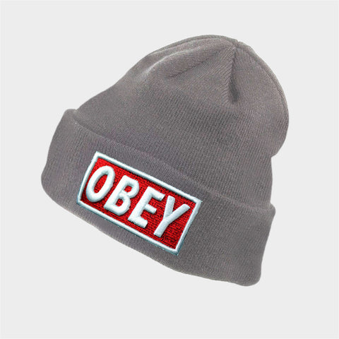 OBEY GREY BEANIE - Edmotic
