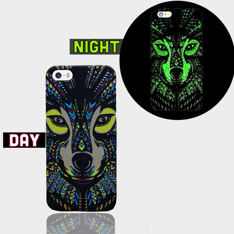 AZTEC FOX GLOW IN DARK CASE Iphone SE Case - Edmotic