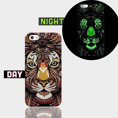 AZTEC TIGER GLOW IN DARK CASE  Iphone SE Case - Edmotic