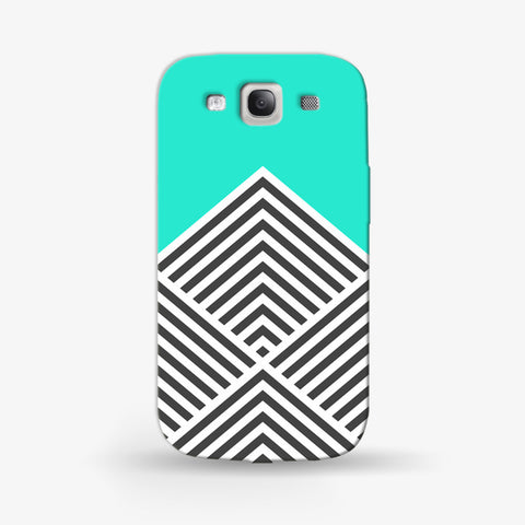 Minty Chevron   Samsung Galaxy S3 CASE - Edmotic