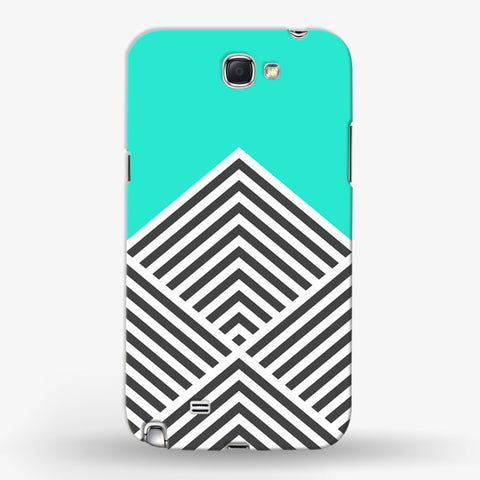 Minty Chevron   Samsung Galaxy Note 2 CASE - Edmotic