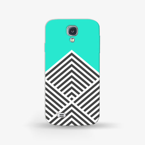 Minty Chevron   Samsung Galaxy S4 Mini CASE - Edmotic