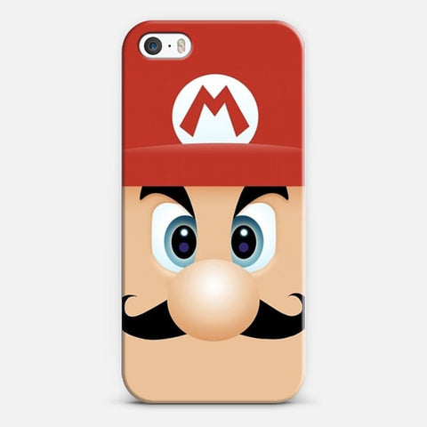 Mario With Cool Mustache iPhone SE Case - Edmotic