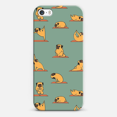 PUG YOGA iPhone 5/5s Case - Edmotic