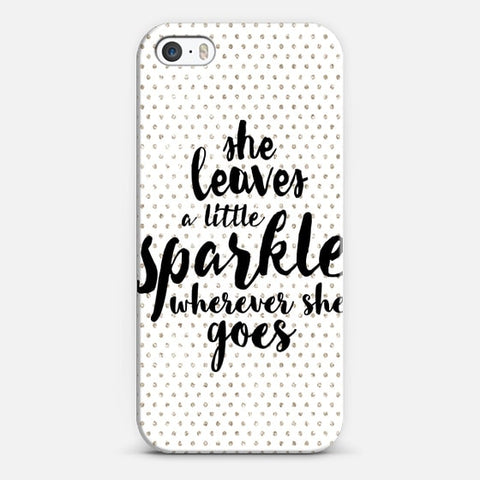 She Leaves A Little Sparkle Wherever She Goes iPhone SE Case - Edmotic