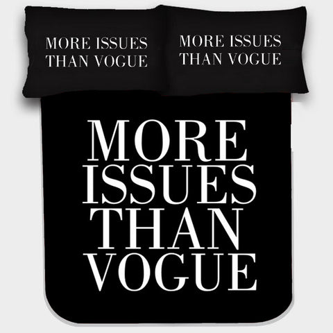 MORE ISSUES THAN VOGUE BEDSHEET - Edmotic - 1