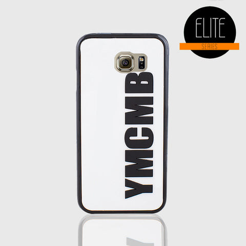 YMCMB GLOSSY WHITE PHONE CASE FOR SAMSUNG S6