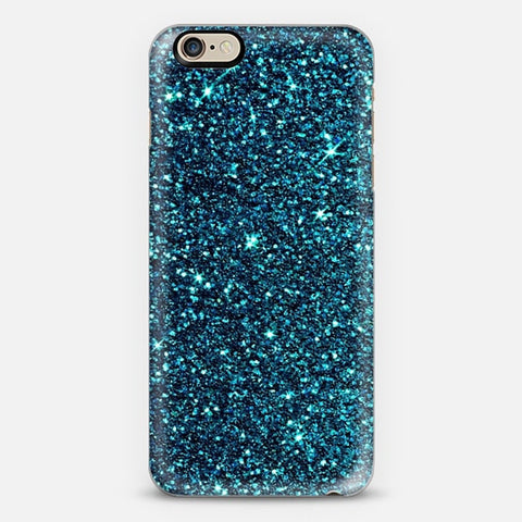 Blue Sparkle iPhone 6 Plus Case - Edmotic