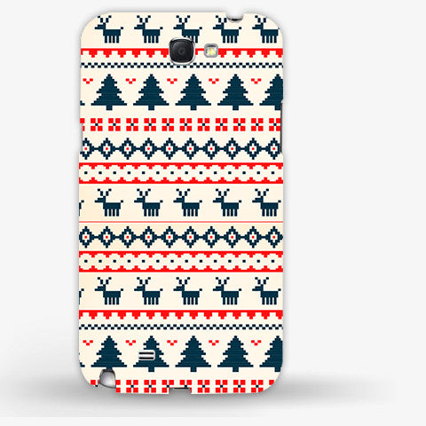 Christmas Snow Aztec Samsung Galaxy Note 2 CASE - Edmotic