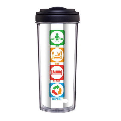 Eat Sleep Lift Repeat Tumbler - Edmotic