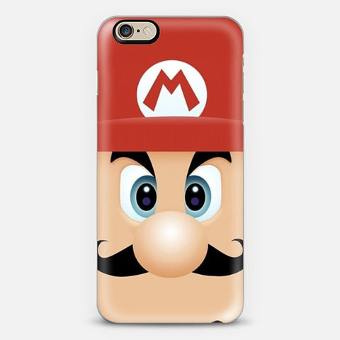 Mario With Cool Mustache iPhone 6 Plus Case - Edmotic