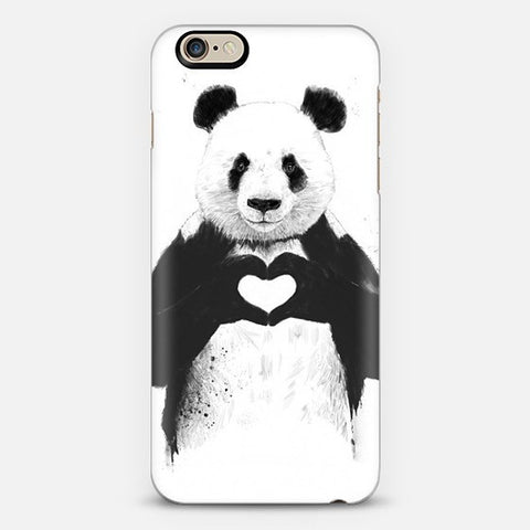 Panda Love iPhone 7 Case - Edmotic