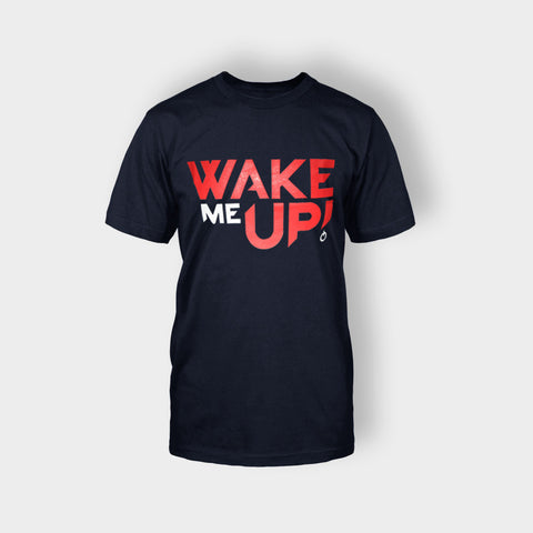 AVICII WAKE ME UP T-SHIRT BLUE - Edmotic