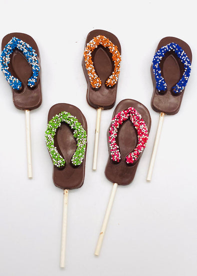 Pack of 5 Chocolate Flip Flop Lollipop