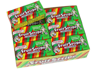 Fruit Stripe Bubble Gum-Juicy Flavors
