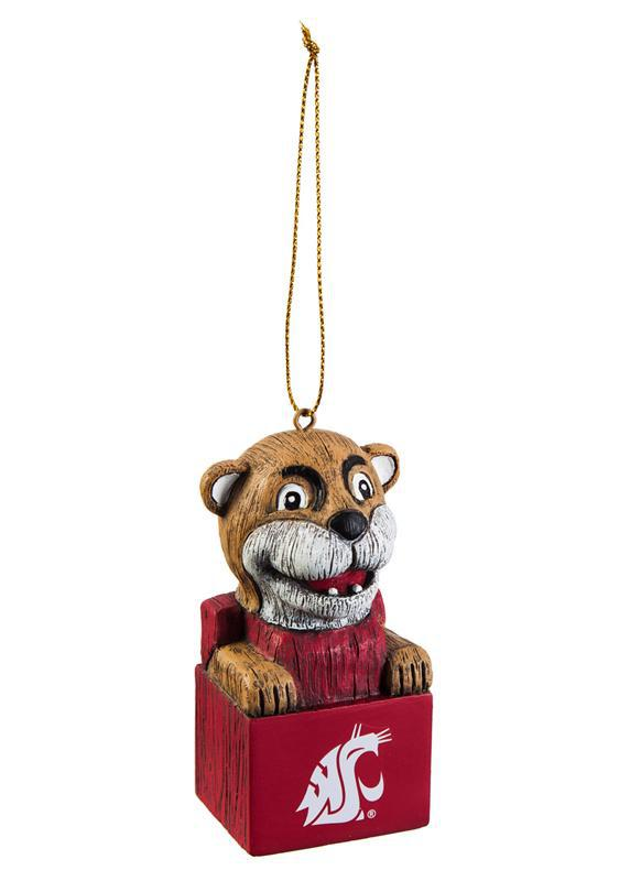 Washington State Cougars Mascot Head Ornament