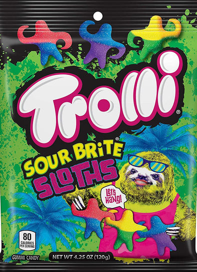 Trolli Sour Brite Sloths 4.5oz Bag