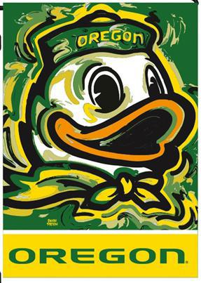 University of Oregon Justin Patten Garden Flag