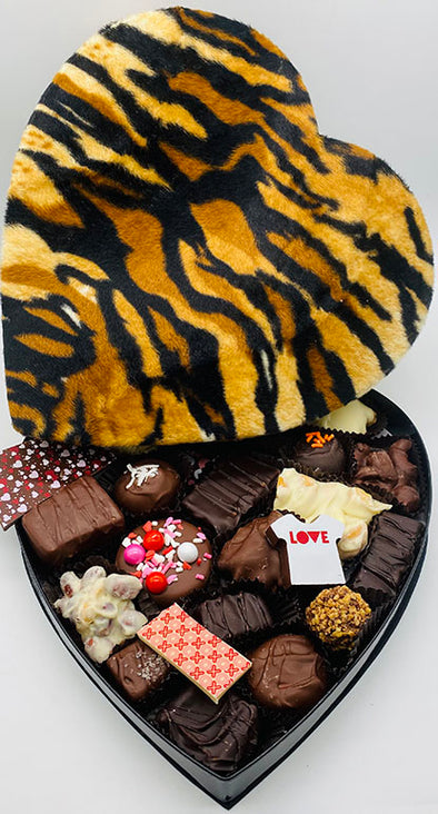 Tiger Print Heart Box