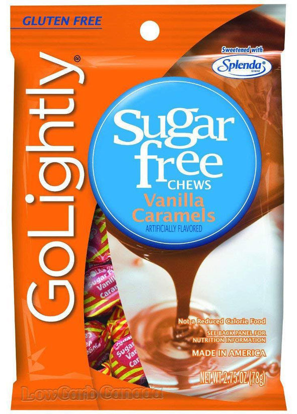 Sugar Free Vanilla Caramel Chews 2.75oz Bag