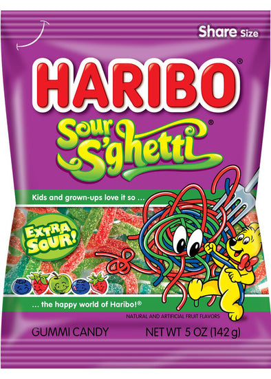 Haribo Sour S'ghetti 5oz Bag