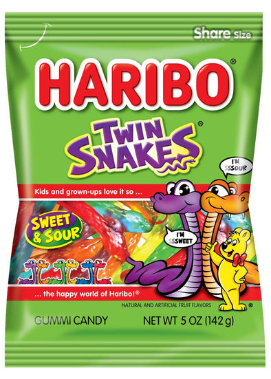 Haribo Gummi Twin Snakes 5oz Bag