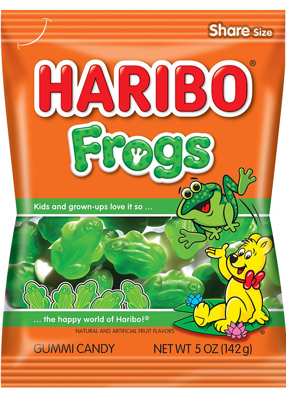 Haribo Gummi Frogs 5oz Bag