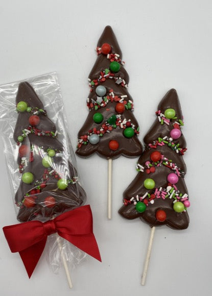 Chocolate Christmas Tree Lollipop