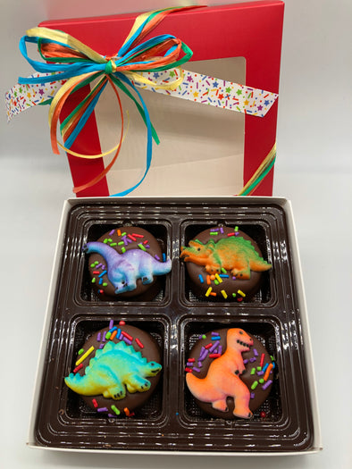 Dinosaur Chocolate Covered Oreos