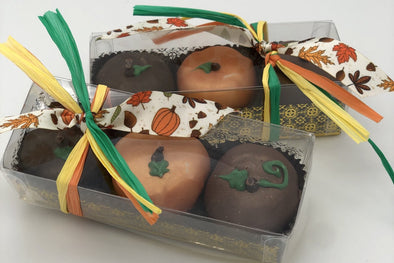 Pumpkin Shaped Chocolate Truffles