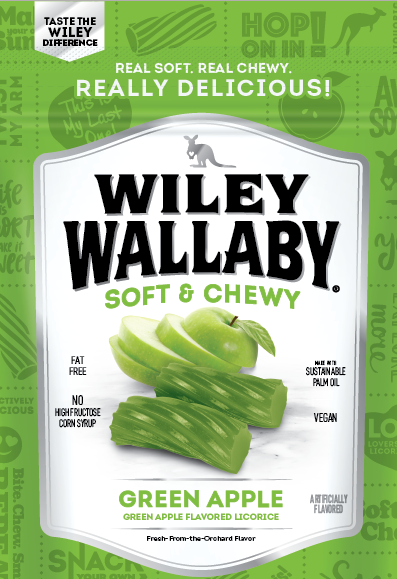Wiley Wallaby Green Apple Licorice