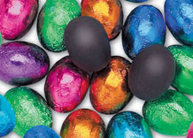 Foil Wrapped Dark Chocolate Eggs