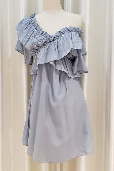 Frilled Off-shoulder Dress