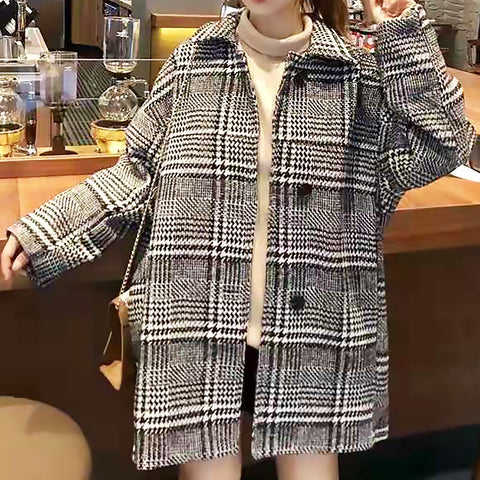 Single-Breasted Tweed Coat