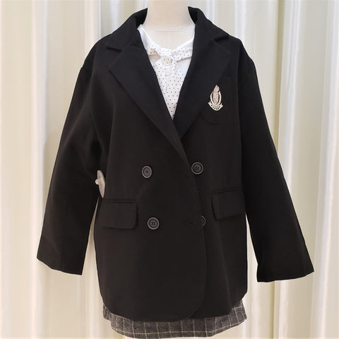 Double-Breasted Badge Embroidery Jacket