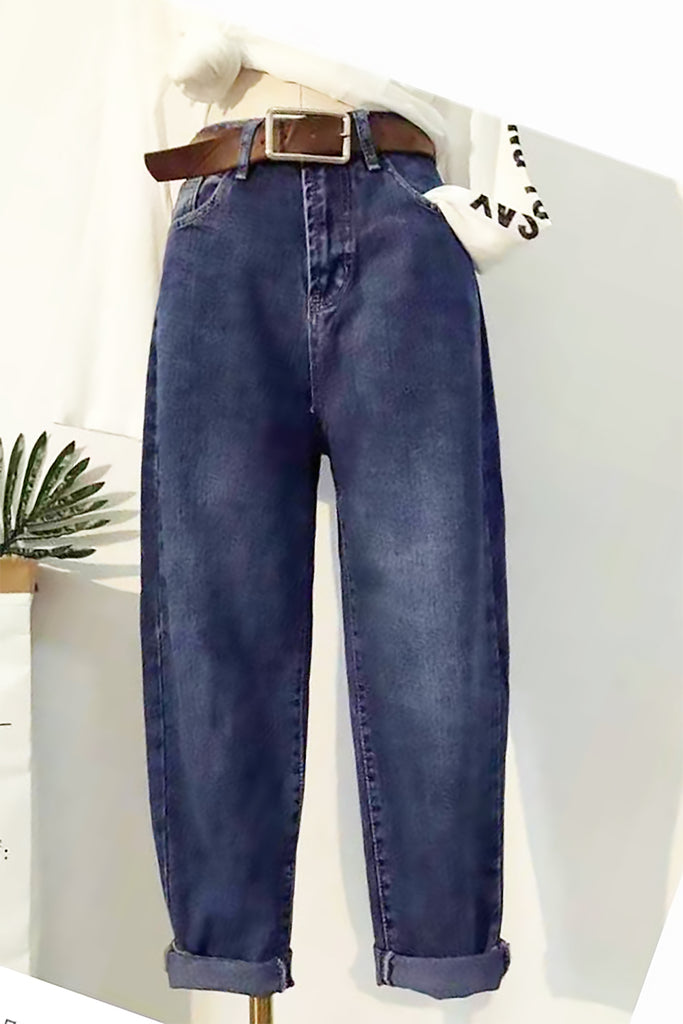 High-Waisted Wide-Legged Jeans