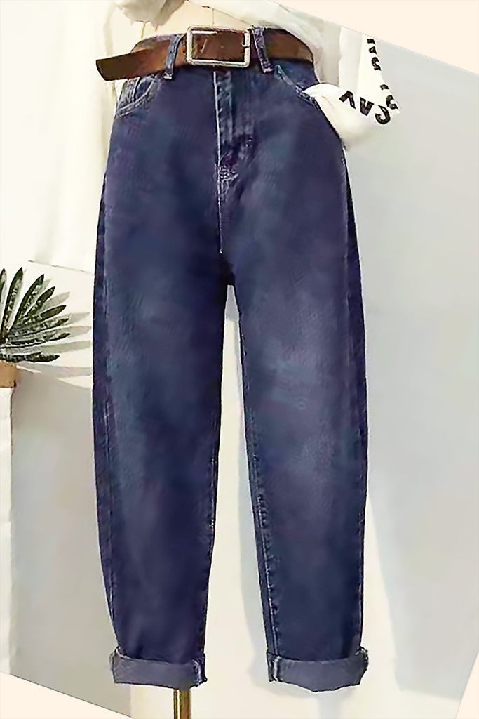 Wide-Legged High-Waisted Jeans