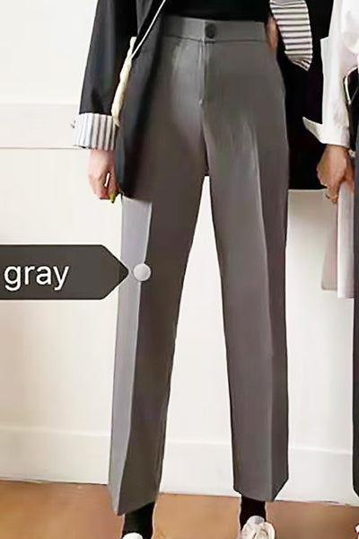 Single Tone Straight-Cut Pants