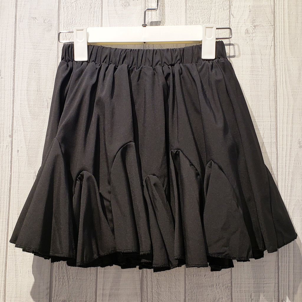 Elastic Waistband  Ruched Mini Skirt