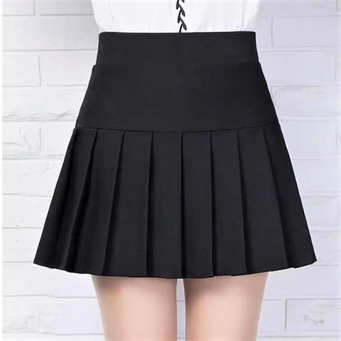 Basic A-Line Pleated Mini Skirt
