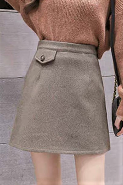 Patch-Pocket A-Line Skirt