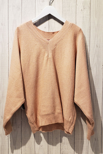 Knitted V neck Sweater