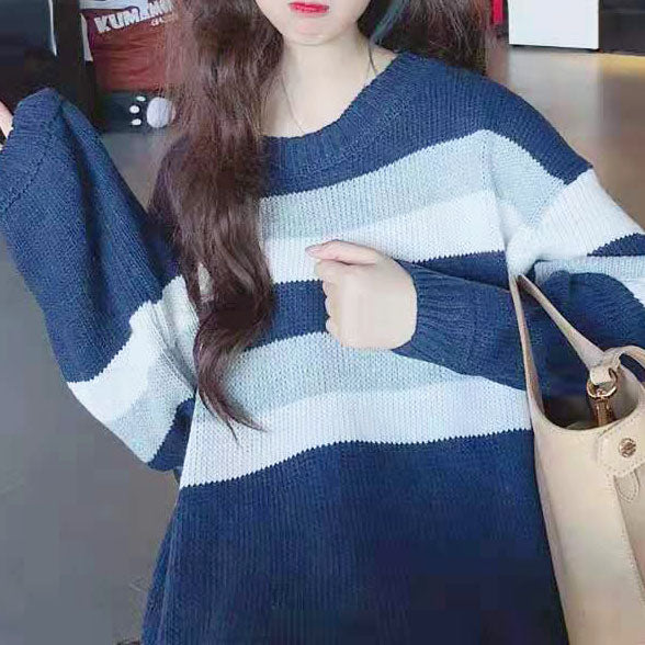 Color-Blocked Knit Sweater