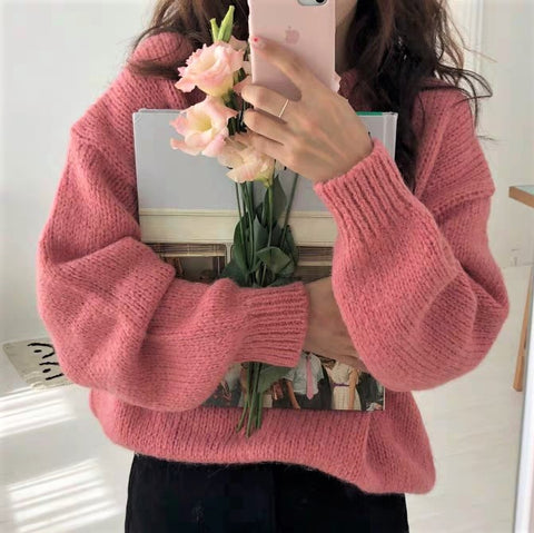 Basic Round neck Knit Sweater