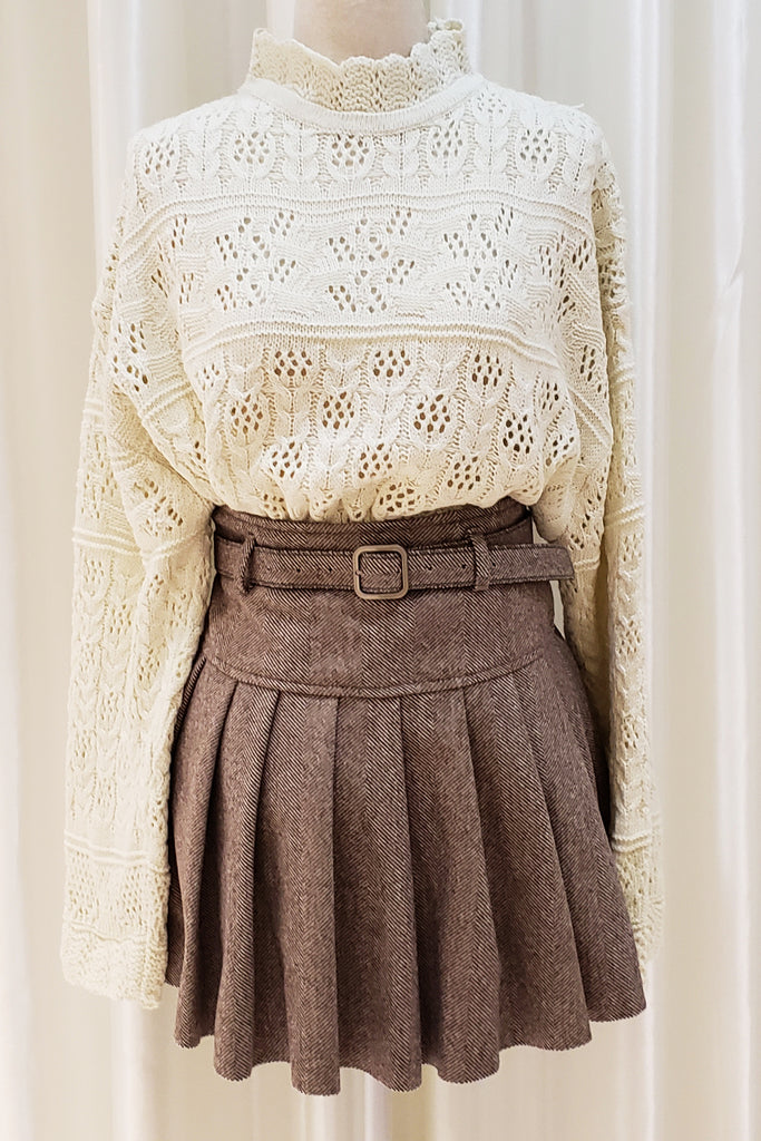 Braid Knitted Sweater
